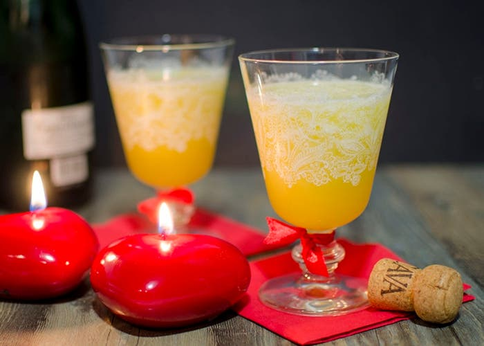 Sorbete de piña y champagne