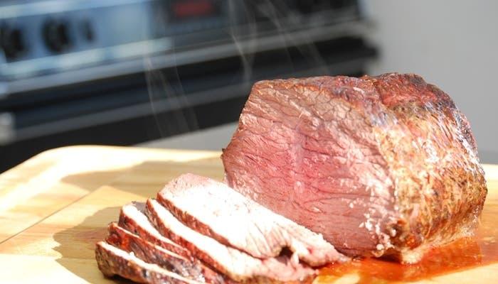 Lomo de carne jugoso