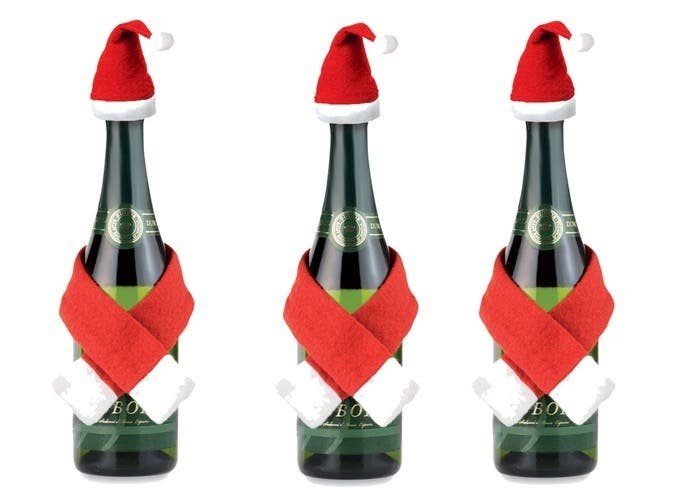 Decorar botella navideña