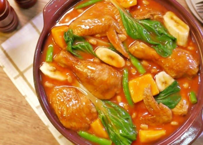 Puchero de pollo y carne de cerdo receta paso a paso - Guiso de carne de cerdo ...