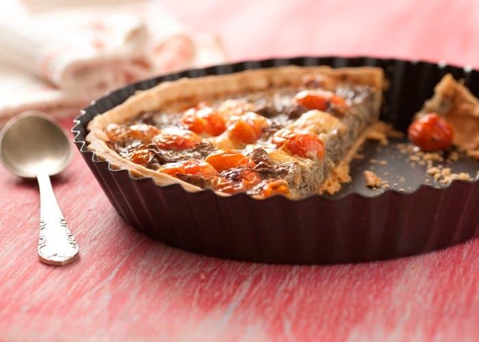 Tarta de berenjena y tomates