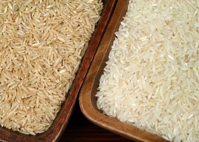 Arroz blanco y arroz integral