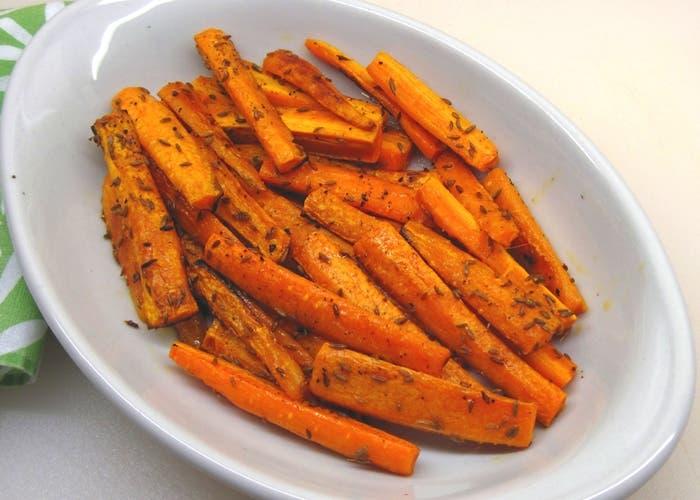 Zanahorias asadas al pesto, receta paso a paso