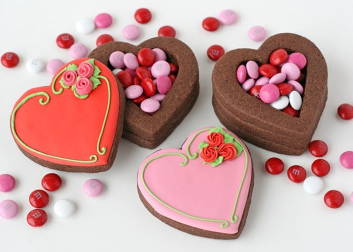 Galletas De Chocolate Decoradas Para San Valentín