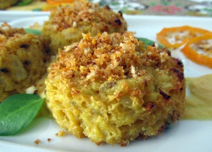 Receta de tortitas de patatas y coliflor