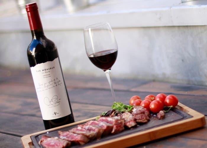 vino y carnes