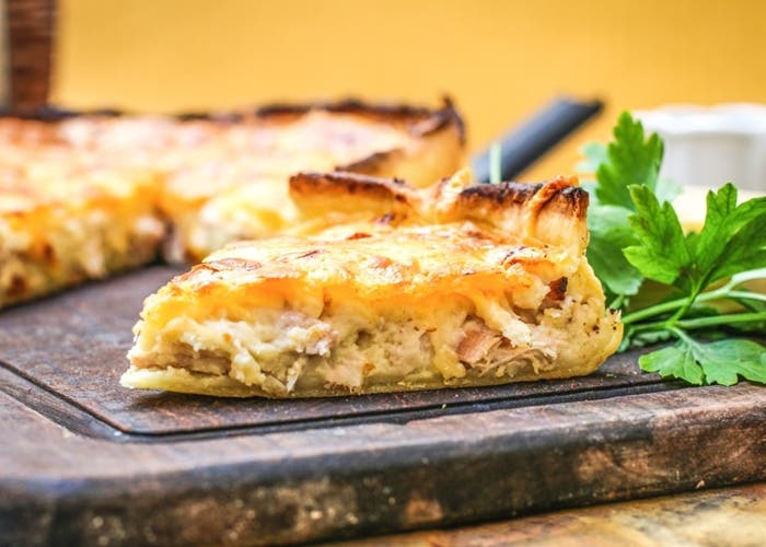 Tarta de pollo y patatas
