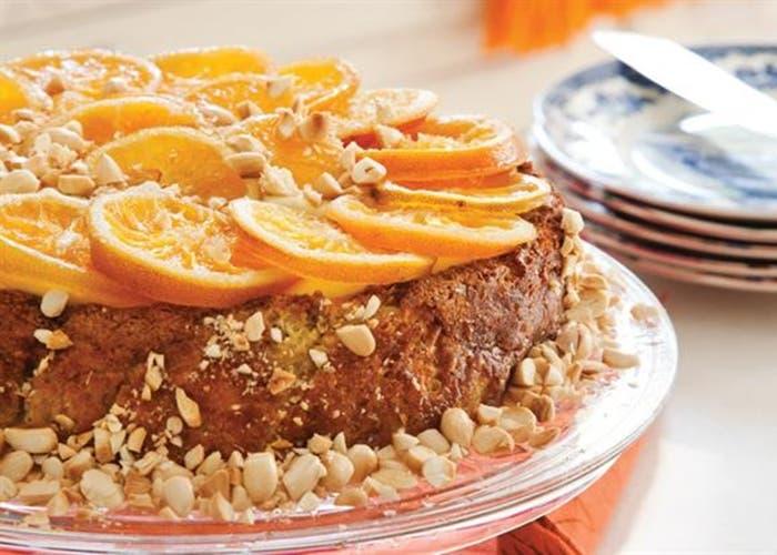 Torta de naranja y almendra, receta paso a paso