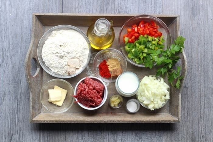 Empanadillas turcas rellenas de carne, receta paso a paso