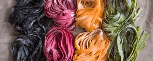 Pastas de colores