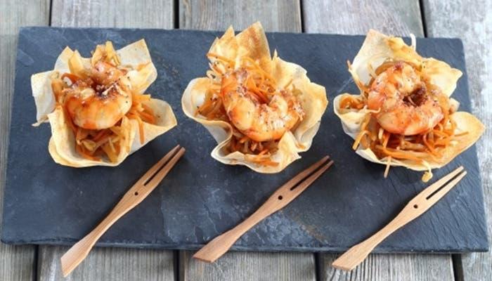 mini-tazas-de-camarones-y-vegetales-receta-paso-a-paso
