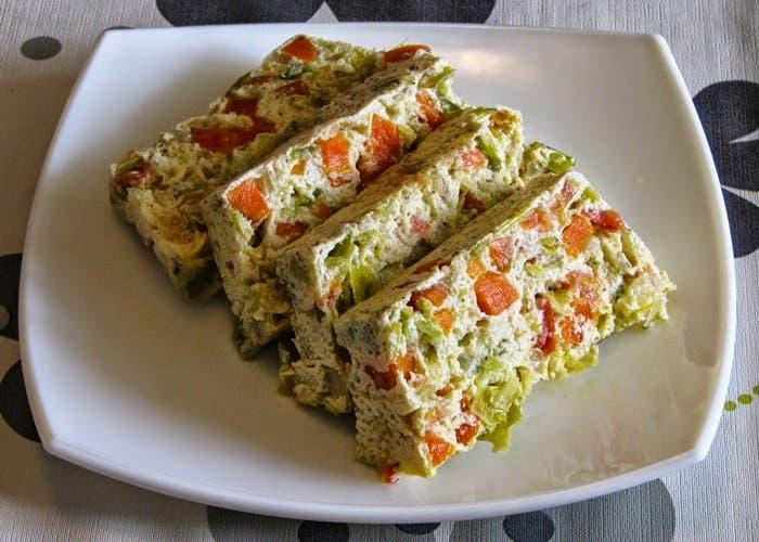 Bizcocho de verduras y queso