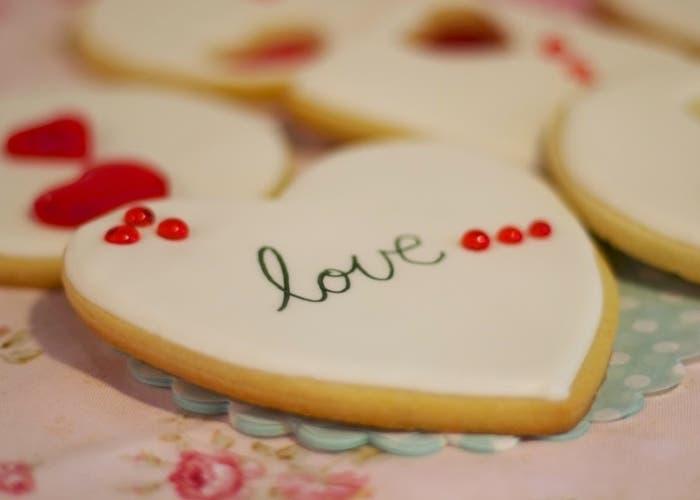 Galletas decoradas para el Día de los enamorados