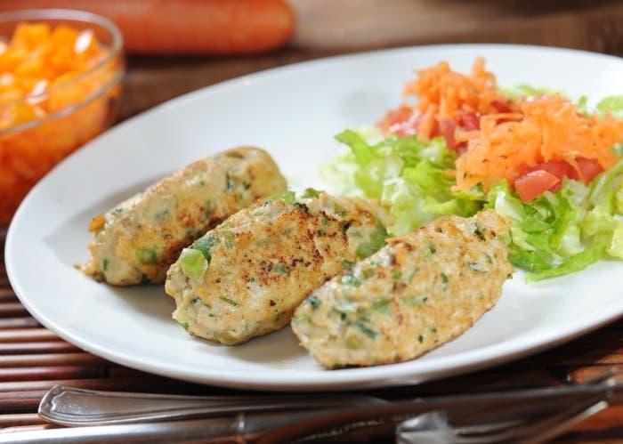 Rollitos de pollo y vegetales, receta paso a paso
