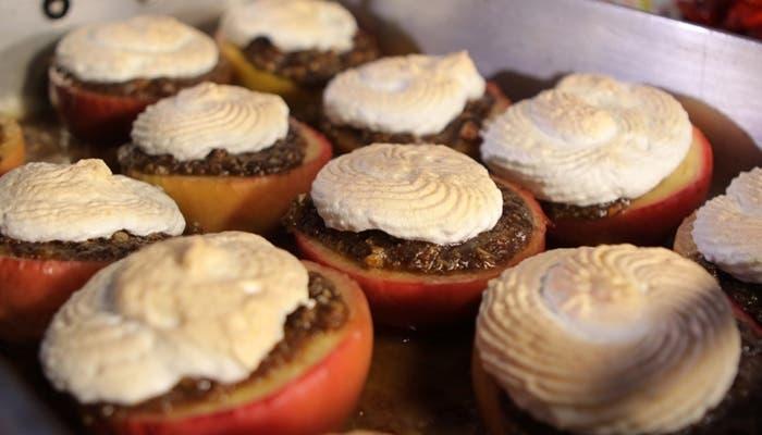 Manzanas asadas con merengue