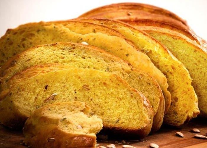 Pan de calabaza y ajo