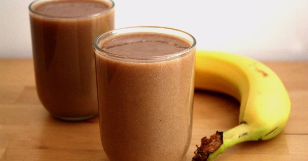 Batido de plátano con chocolate