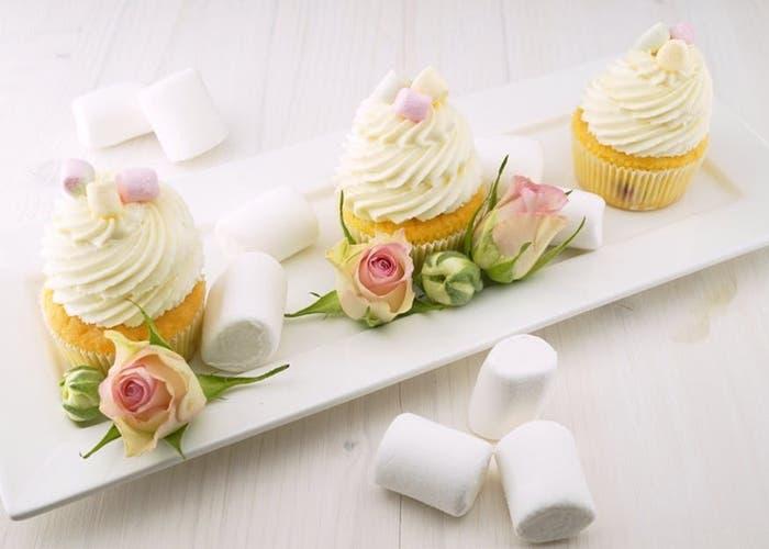 Cupcakes de agua de rosas