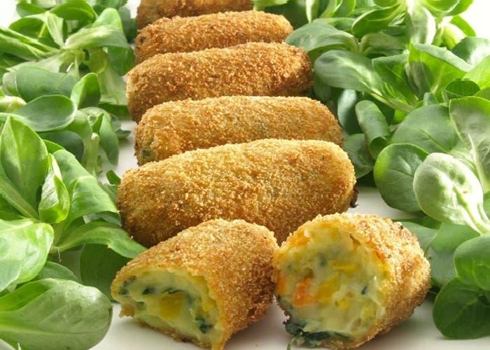 Croquetas de verdura y queso