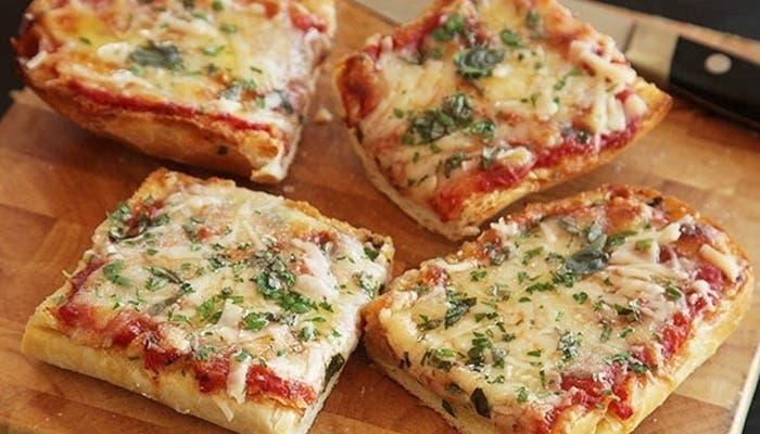 Pizza en baguette