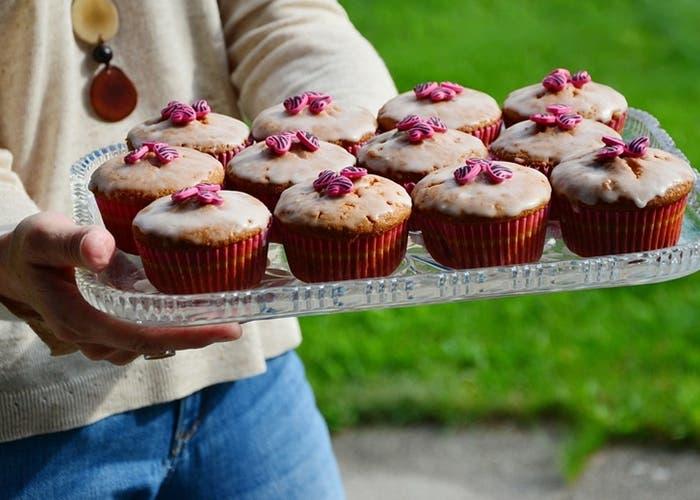 Muffins de calabaza glaseados