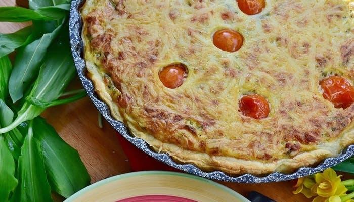 Receta de quiche de queso, atún y tomates cereza