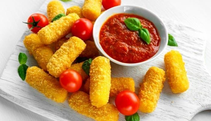 Fingers de queso mozzarella