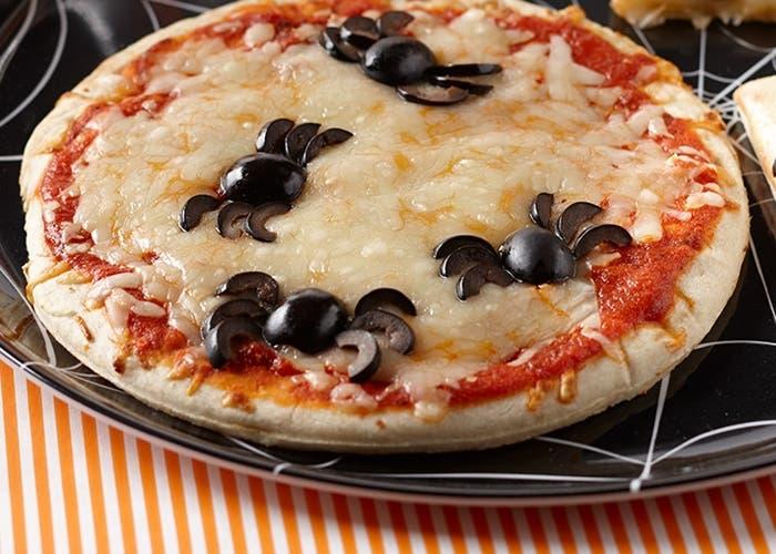 Pizza araña para Halloween