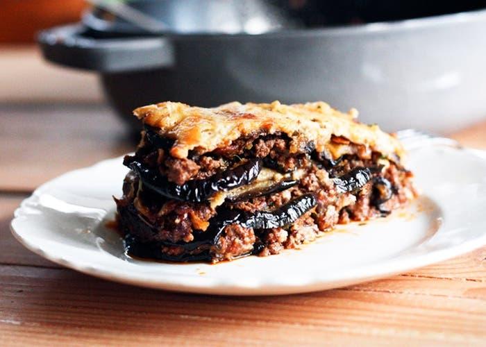 Moussaka de berenjena y carne picada