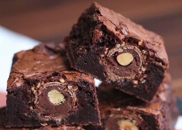 Receta de brownies de Ferrero Rocher