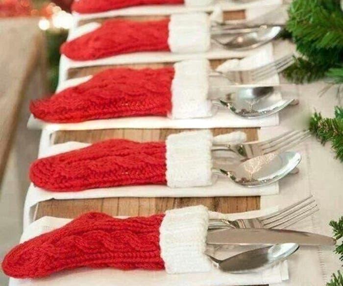 Nieuwe-Kerst-Knit-Sokken-Bestek-Pak-Houders-Kerst-Messen-Folks-Zak-Kerst-Sokken-Diner-Thuis-Tafel