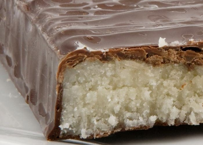 Turrón de coco con chocolate