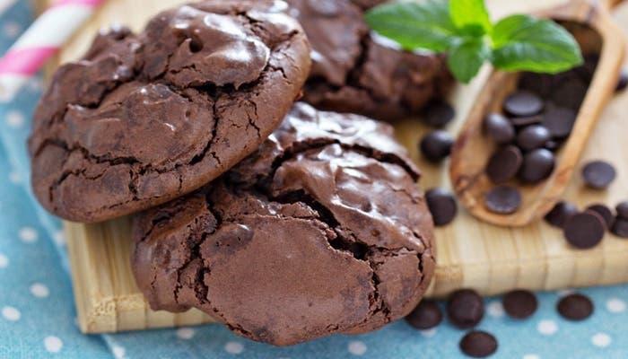 Galletas de merengue de chocolate