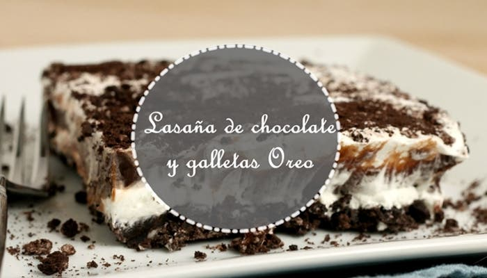 Lasaña de chocolate