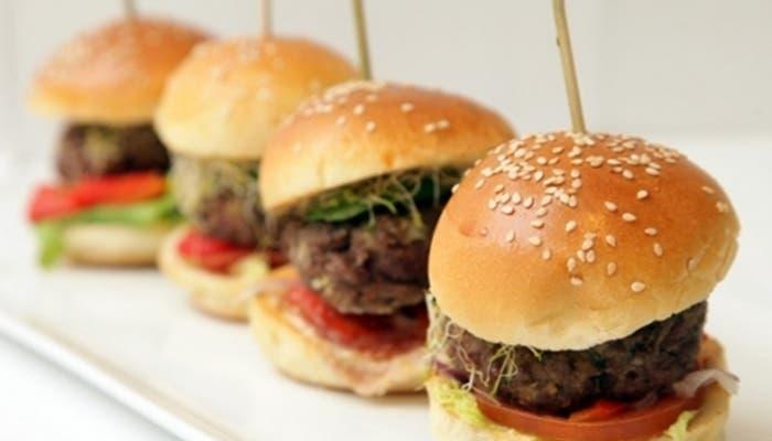 Minihamburguesa de berenjena