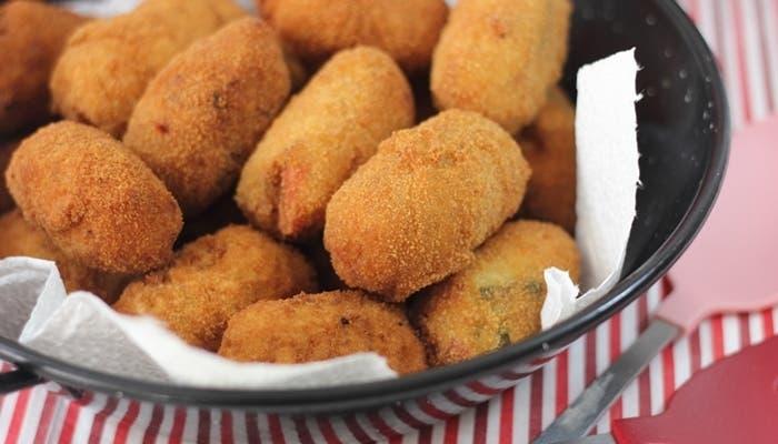 Croquetas de arroz con mostaza