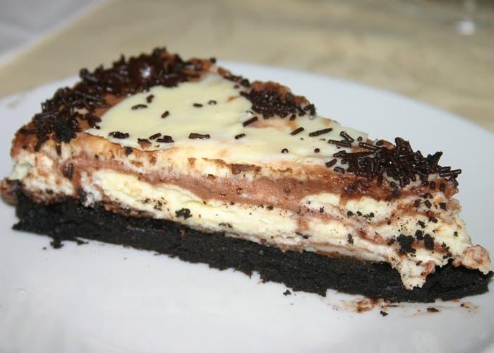 Receta de cheesecake de chocolate, suave y cremoso
