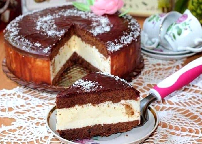 Tarta leche de pájaro (Ptichie moloko), receta rusa paso a paso