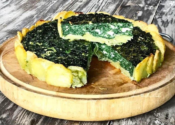 Receta de tarta de verdura con base de patatas