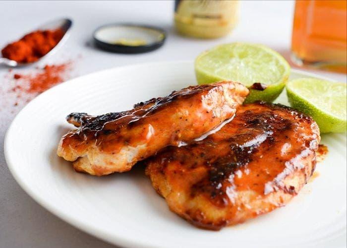 Supremas de pollo en salsa agridulce, receta paso a paso