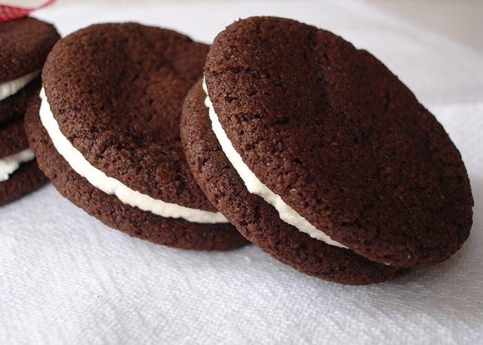 Receta de galletas de chocolate rellenas