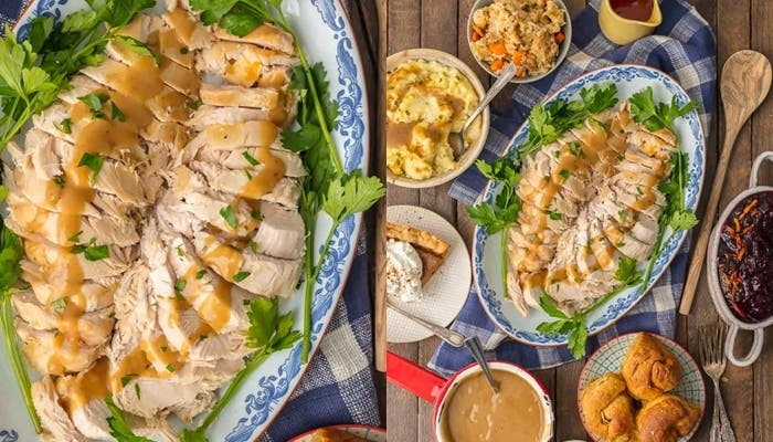 Receta de pechuga de pavo para la cena de Acción de Gracias