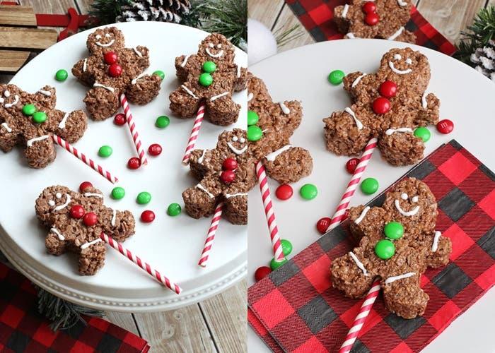 galletas con cereal de arroz de chocolate