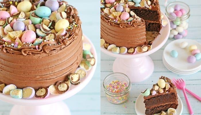 tarta de chocolate malteada