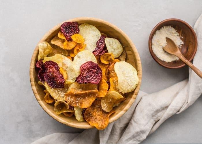 Receta de chips de vegetales