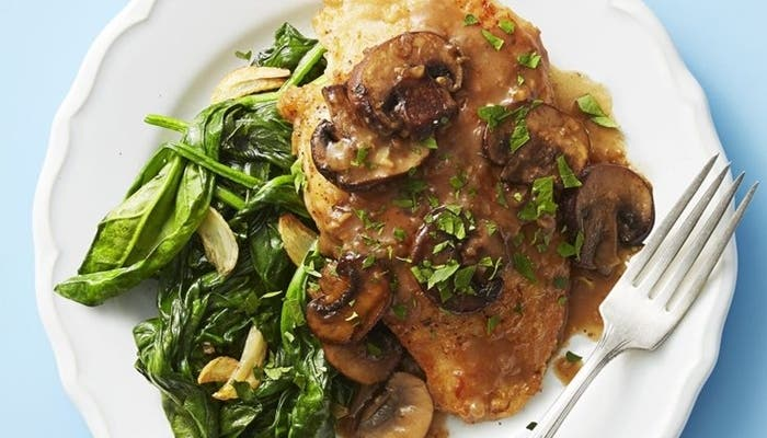 Receta italo-americana pollo marsala