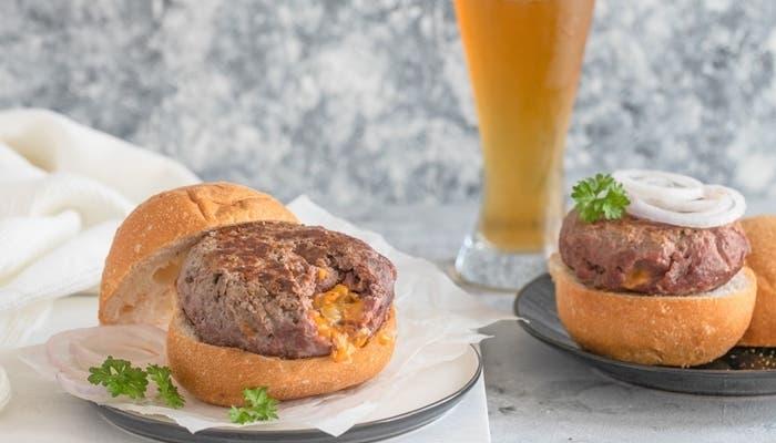hamburguesas rellenas