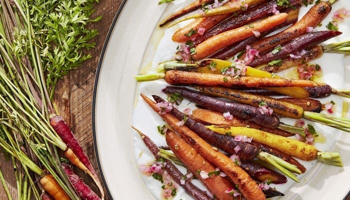 receta de zanahorias asadas al cilantro