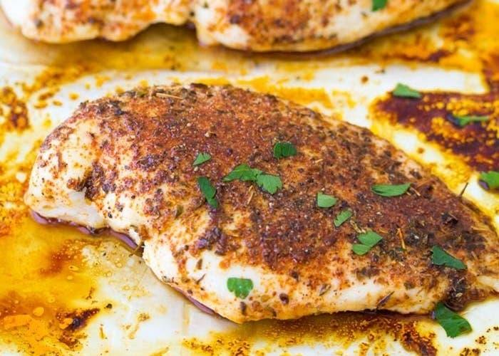 receta de supremas de pollo al horno