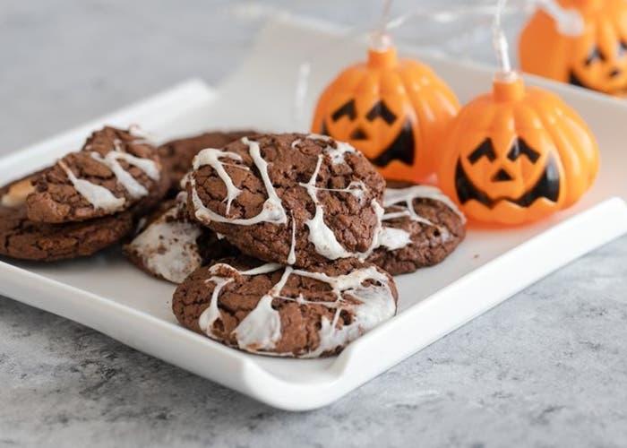 Receta de galletas de telaraña de Halloween